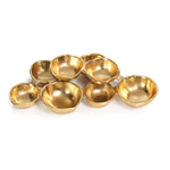 8 Gold Cluster Bowls-Shiny