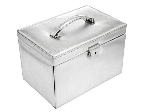 Jewelry Box With Drawers- Silver