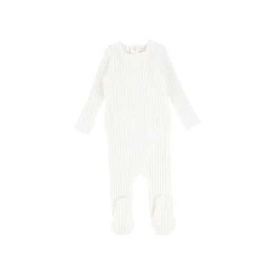 Lil Leggs Ribbed Footie White