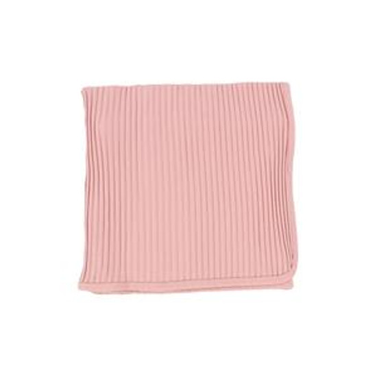 Lil Leggs Wide Ribbed Blanket  Pink