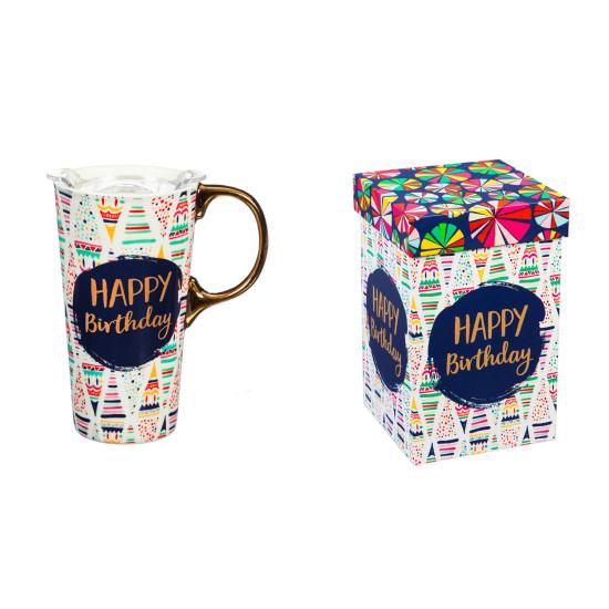 Happy Birthday Ceramic Travel Mug