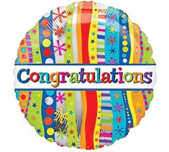 "Helium Congratulations Balloon-18"""