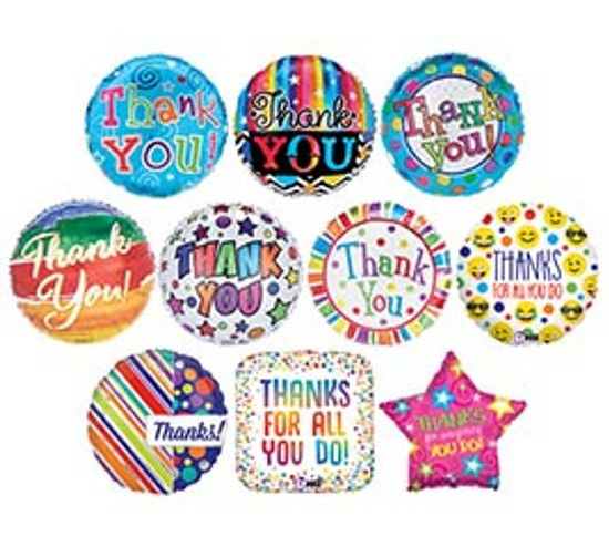 """Helium Thank You Balloon- 18"""""""