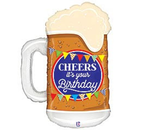 Helium Birthday Mug Balloon Extra Large- 34""