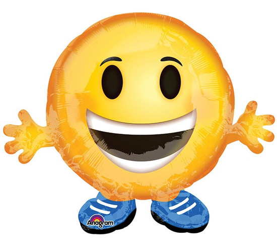Helium Emoji Smiley Balloon Medium- 21""
