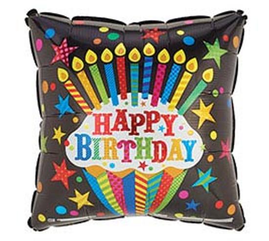 "Helium Birthday Balloon Male- 18"""