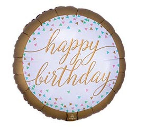 "Helium Birthday Balloon Female- 18"""