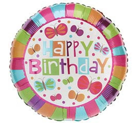 """Helium Birthday Balloon Girl- 18"""""""