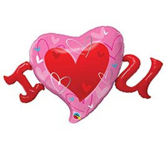 "Helium I Love You Heart Balloon-46"""