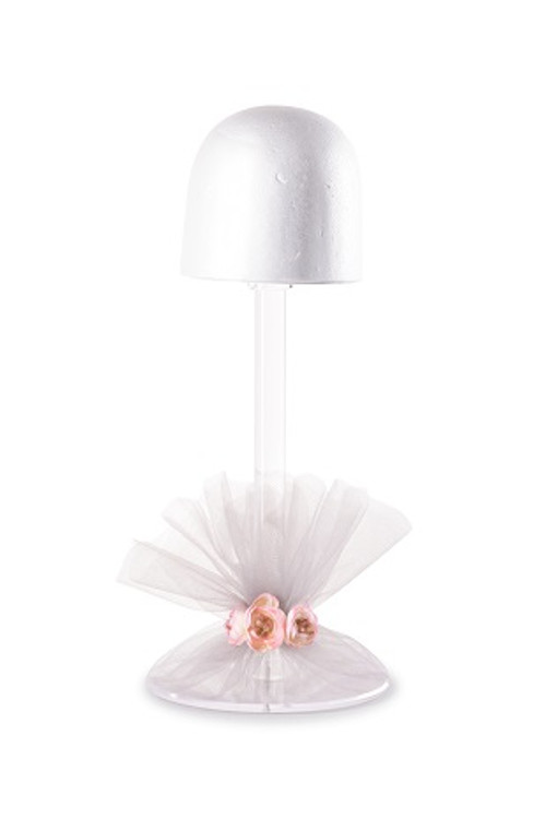 Decorative Acrylic Wig Stand-19""