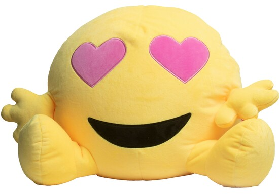 "Emoji Heart Eyes Plush- 22"""