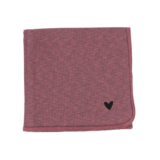Lil Legs Marled Blanket-Pink