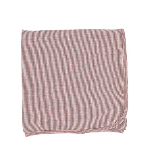 Lil Legs Mini Striped Blanket- Mauve