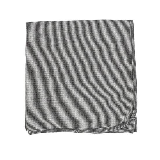 Lil Legs Mini Striped Blanket- Black & White