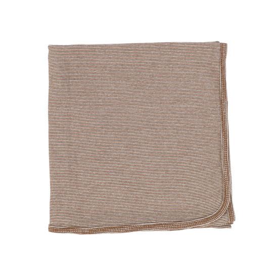 Lil Legs Mini Striped Blanket- Brown