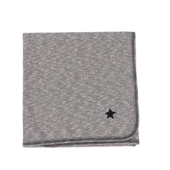 Lil Legs Marled Blanket- Grey