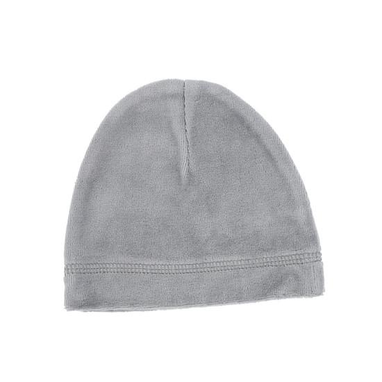 Blue Grey Velour Beanie