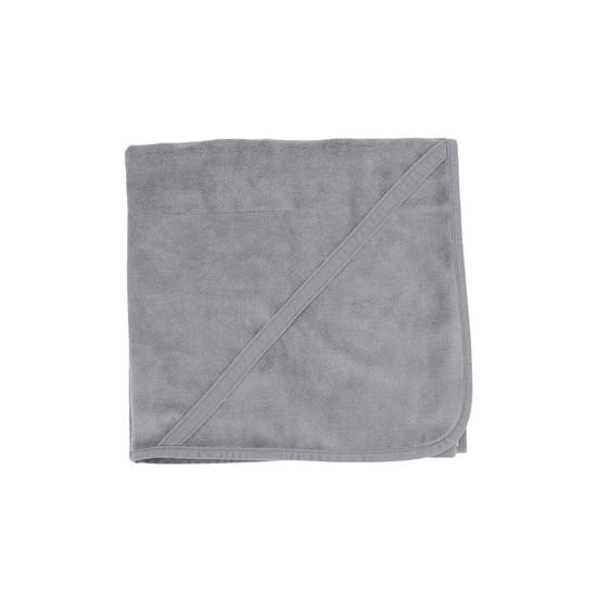 Blue Grey Velour Blanket