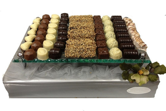 Assorted Truffles on Glass Tray