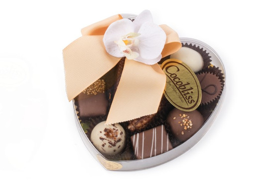 Cocobliss Heart of  Dairy Belgian Truffles-Large