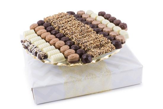 "Assorted Truffles on Elegant Cake Plate 13"""