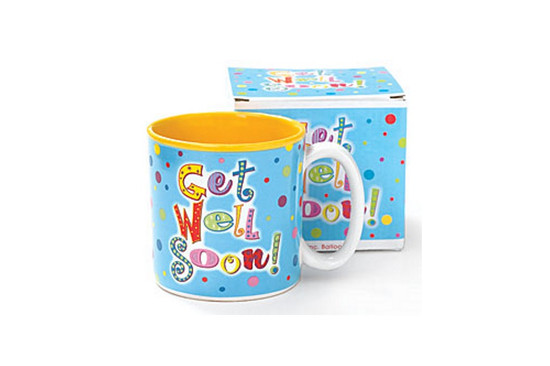 Mug-Get Well  Soon Dots