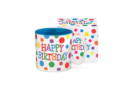 Mug-Happy Birthday Dots