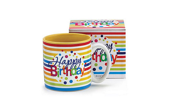 Mug-Happy Birthday Stripes