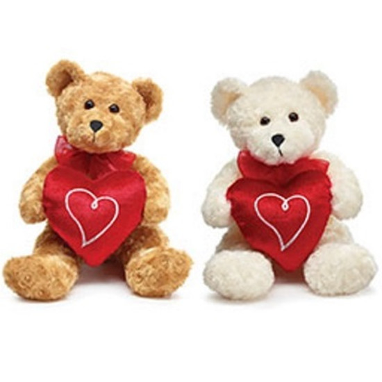 Teddy Bear with Heart-White Or Beige)