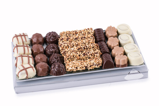 Assorted Chocolates on Glass Tray -Small