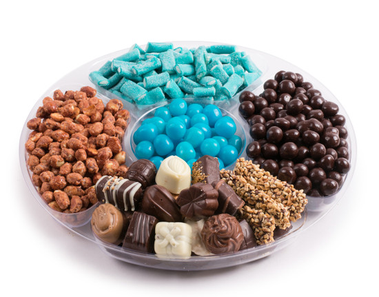 "Chocolate Candy Platter Boy -12"""