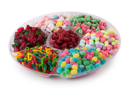 """Platter Just Candy 7 Section -14"""""""