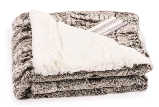 Baby Blanket Luxe Mink/Cream With Candy Sticks