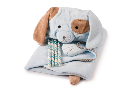 Blue Hooded Towel With Candy Sticks