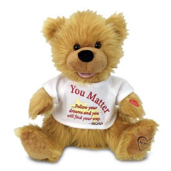 """Singing """"You Matter"""" Bear"""