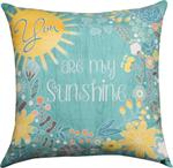 Pillow You Are My Sunshine-Aqua