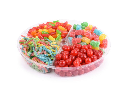 """Platter Just Candy 4 section -10"""""""