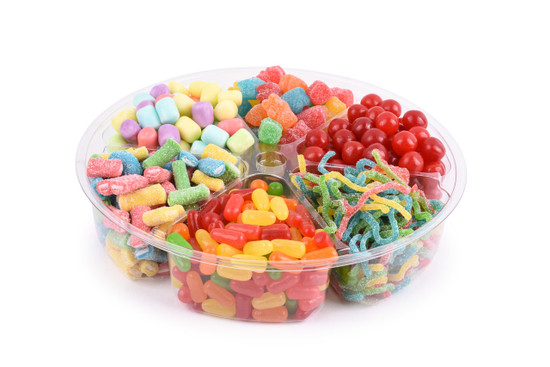 """Platter  Just Candy 6 Section -10"""""""