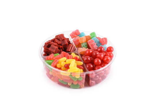 Platter Just Candy 4 Section -7""