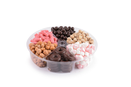 Candy Platter 6 Section-Pink-10""
