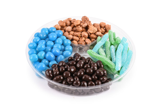 """Candy Platter 4 Section-Blue-10"""""""