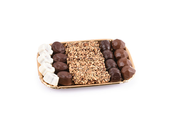 Assorted Chocolates on Gold Tray- XSmall