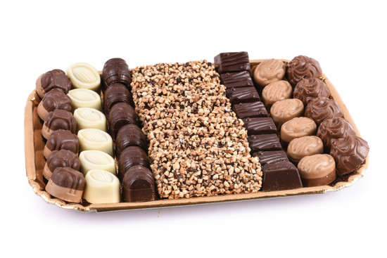 Assorted Chocolates on Gold Tray- Medium