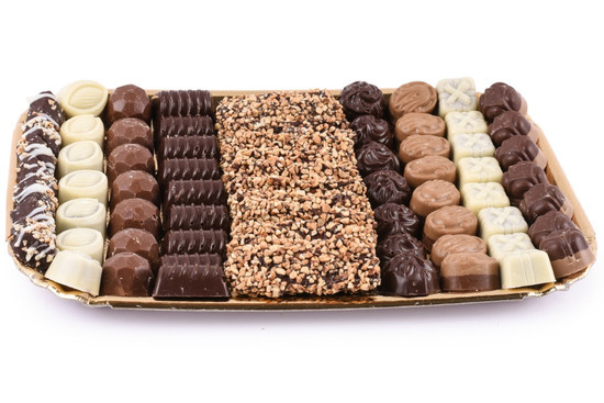 Assorted Chocolates On Gold Tray- Extra Large