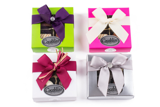 Cocobliss Dairy Belgian Truffles-4 Piece Square