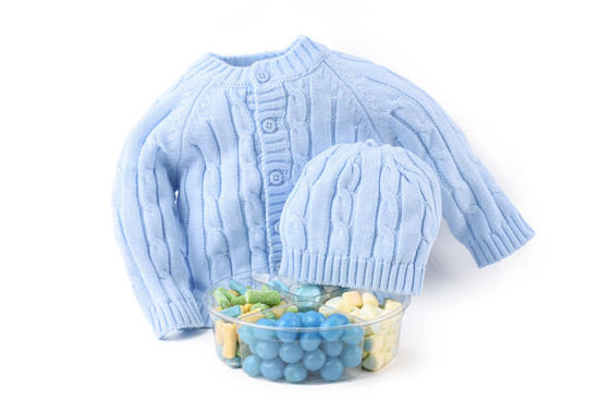 Baby Boy Sweater Set With Candy Platter