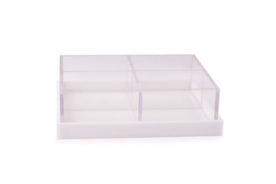 Acrylic 4 section Server with Base/ Cover-9""
