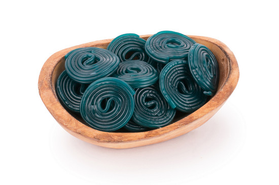 Blue Licorice Wheels