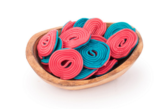 Blue/ Red Licorice Wheels