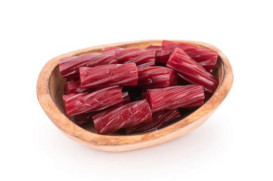 Raspberry Licorice Logs